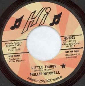 Phillip Mitchell Little Things Thats What A Man Is For